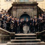 Schützenfest 1982 am Rathaus Rüthen